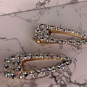 Accessories - Set of 2 Crystal hair clips - Gorgeous AB Crystals